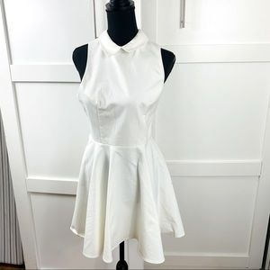 blackness full skirt white dress